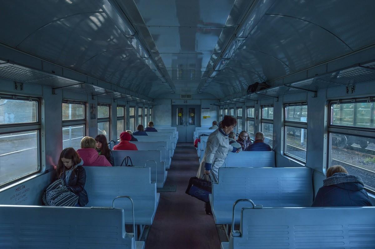 Dans un train, au fin fond de la Carélie (non loin de la Finlande).