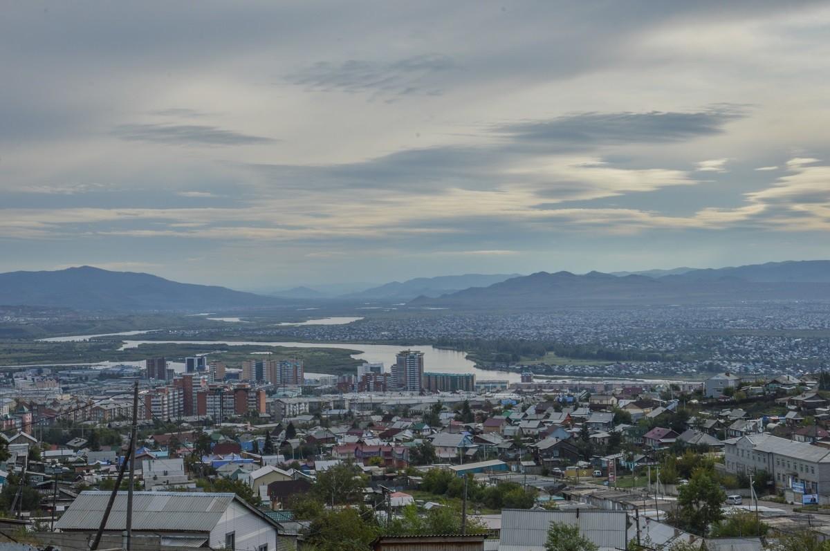 Sur l'une des collines surplombant Oulan-Oudé, la capitale de la Bouriatie (Sibérie).