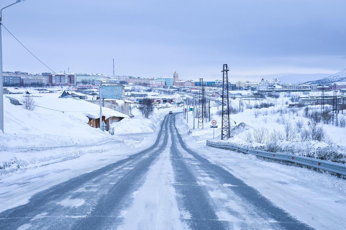 Au-delà du cercle polaire, à Kirovsk, petite cité minière de la région de Mourmansk.
