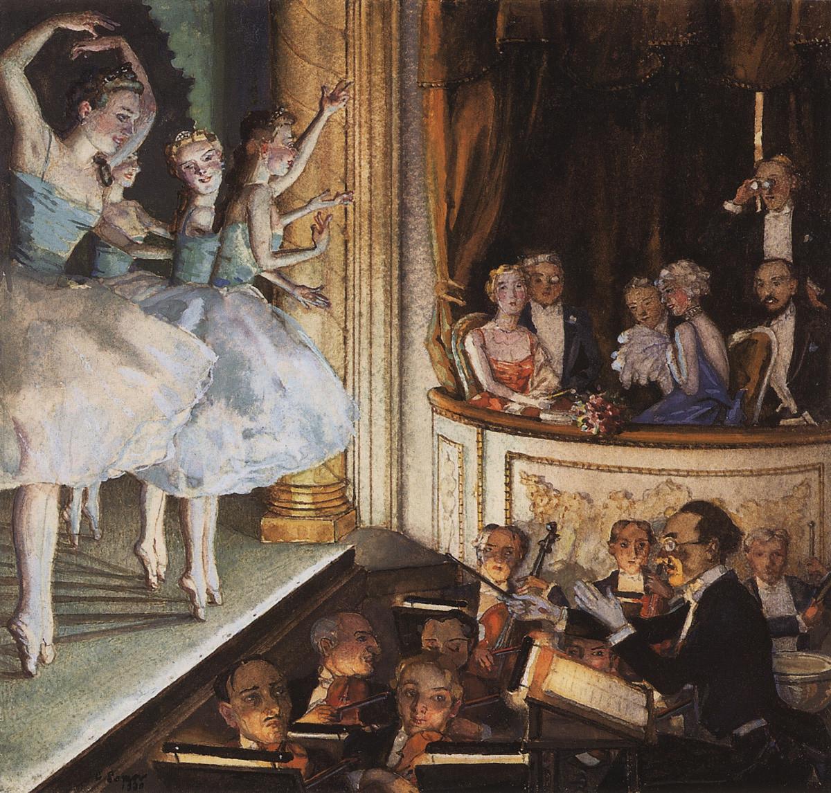 Konstantin Somov. Ballet russe, 1930