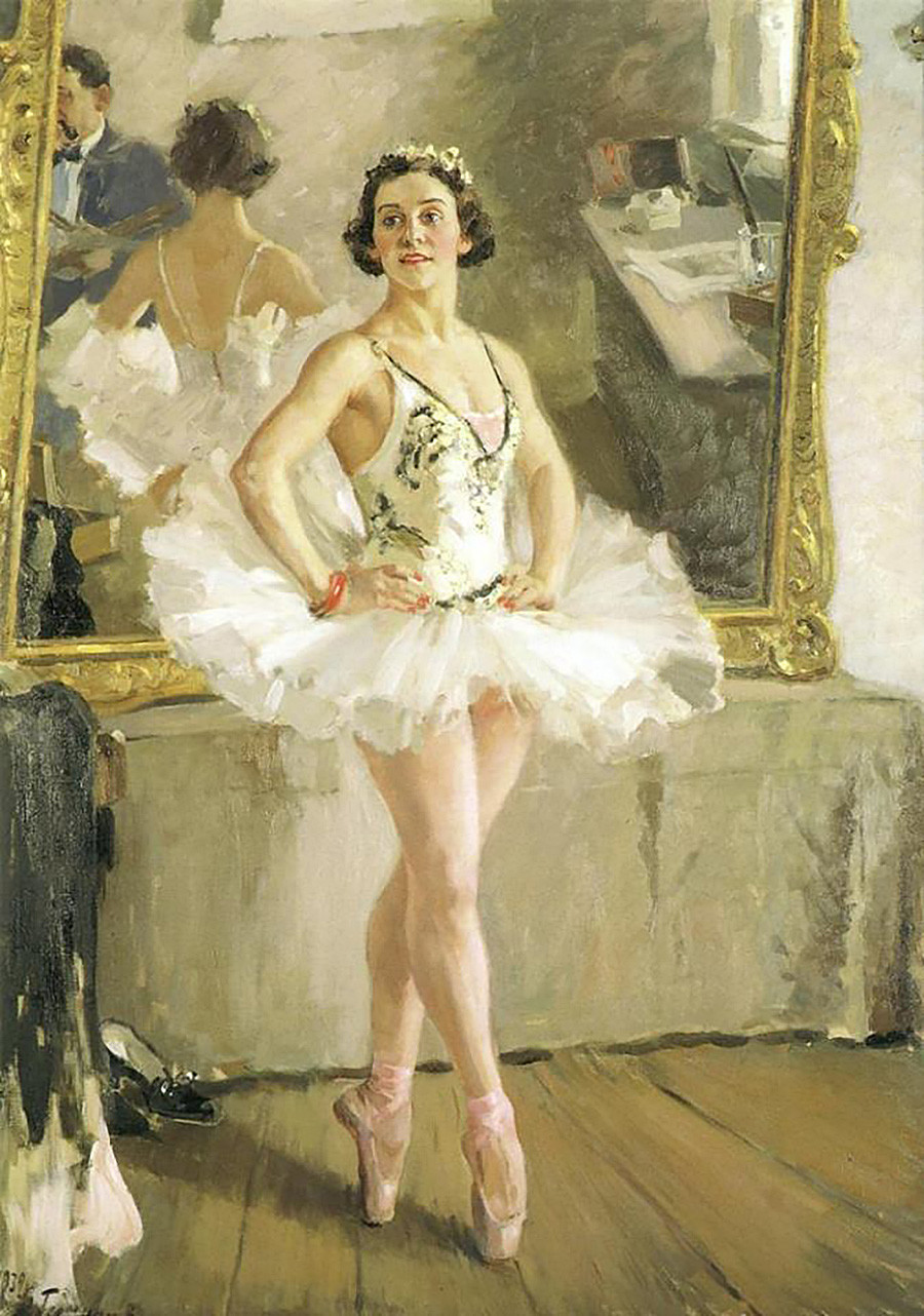 Alexandre Guerassimov. Portrait de la ballerine Olga Lepechinskaïa, 1939