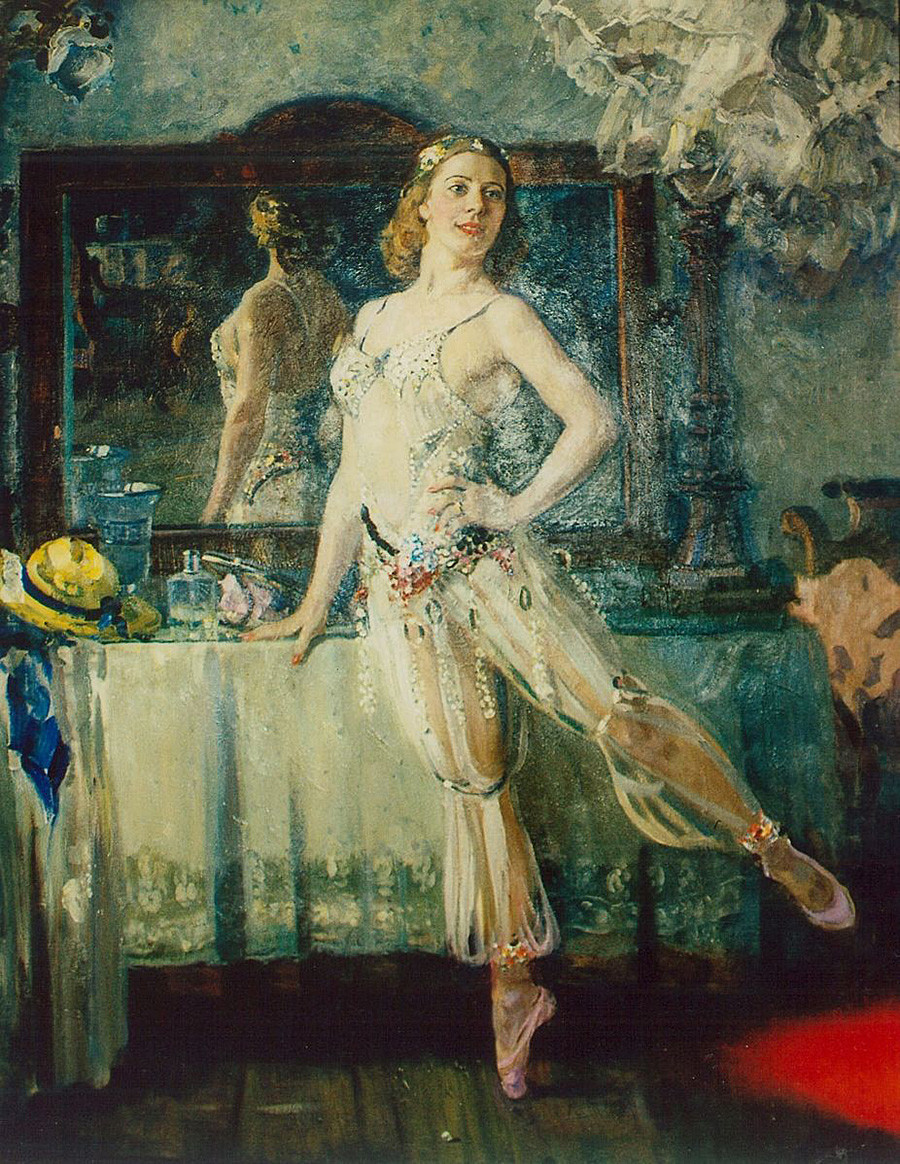 Alexandre Guerassimov. Portrait de la ballerine Sofia Golovkina, 1947