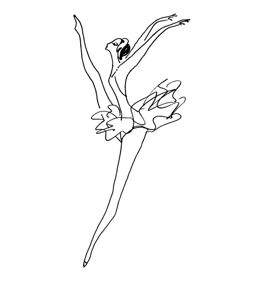Nadia Roucheva. « Le solo de la ballerine », 1968.