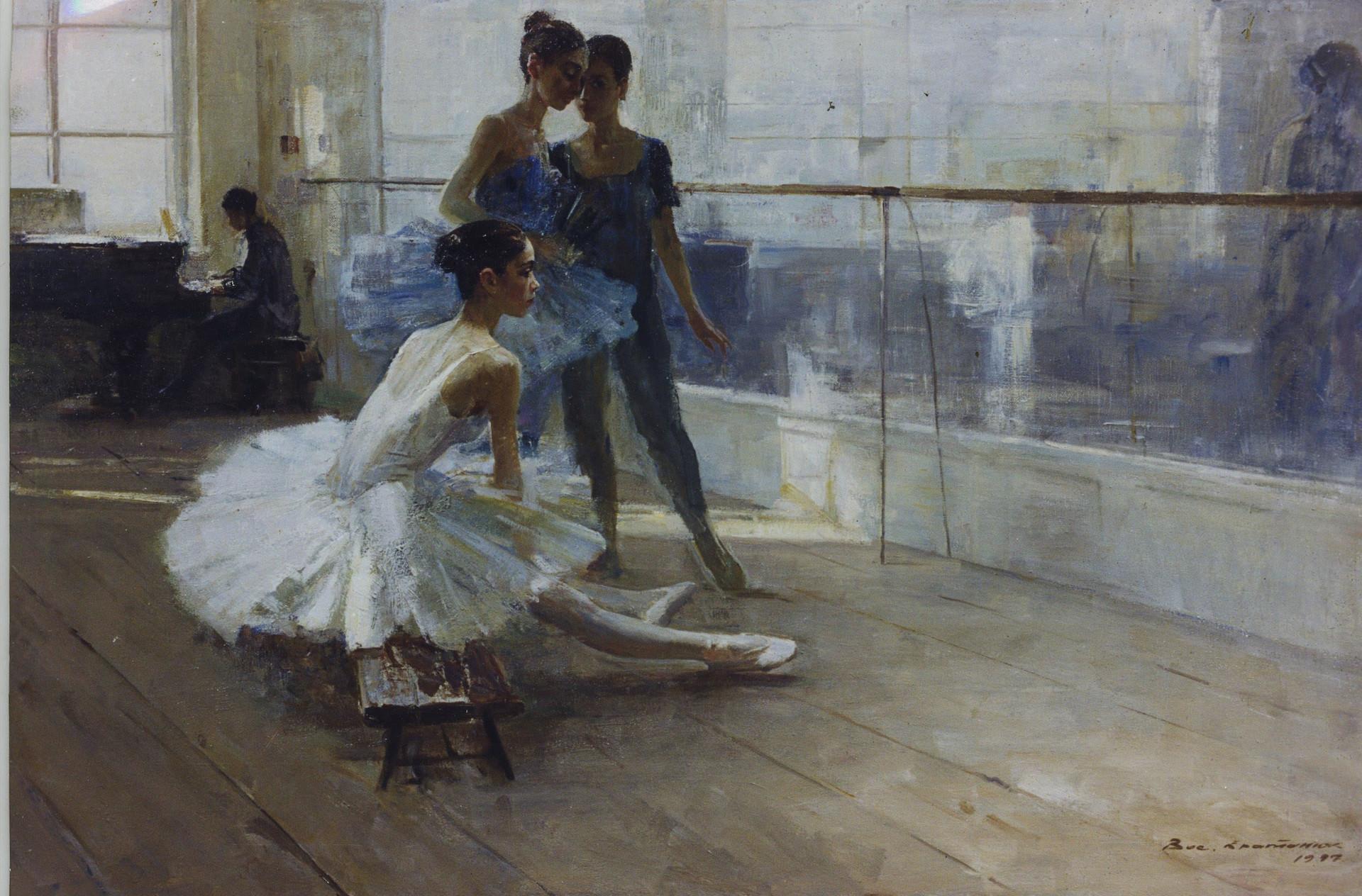 Vassili Brataniouk. Dans la salle de répétition, années 1980