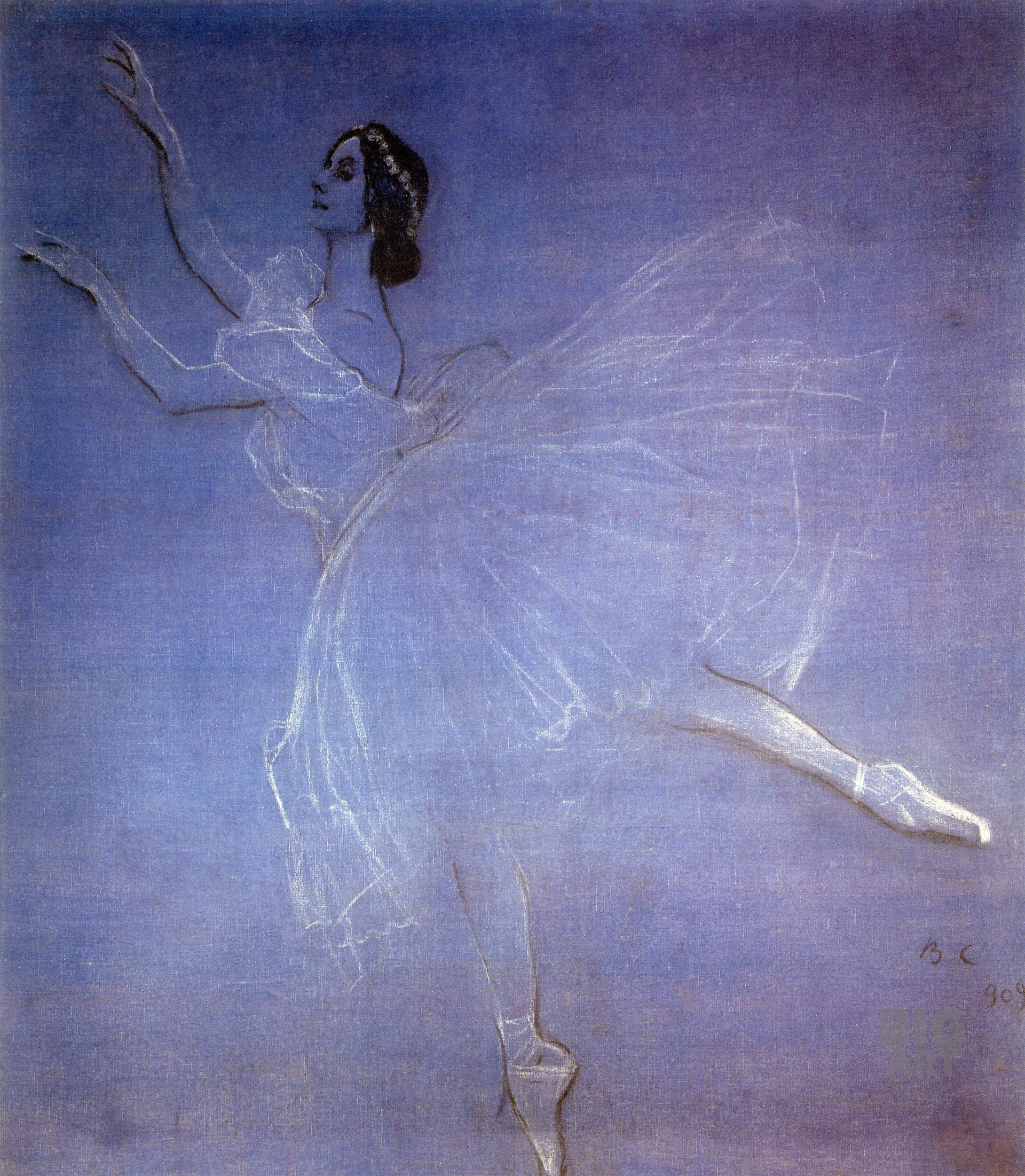 Valentin Serov. Anna Pavlova dans le ballet La Sylphide, 1909