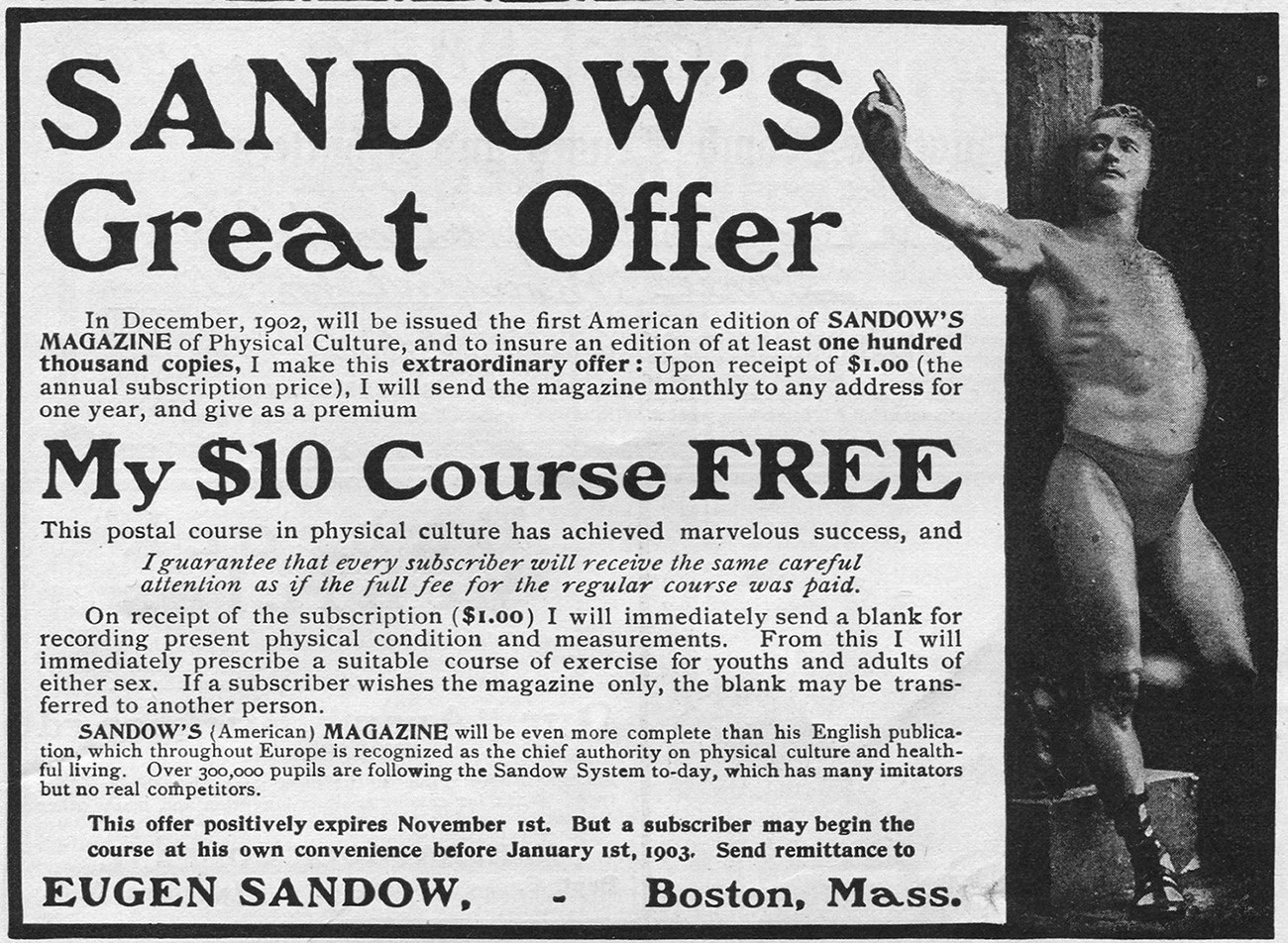 Reklama magazina Sandova tiskanog u Bostonu