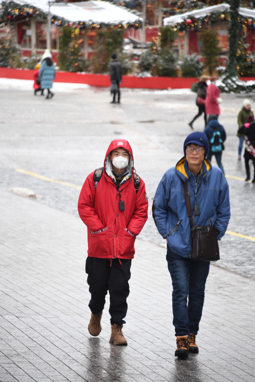 Туристе из Кине у Москви