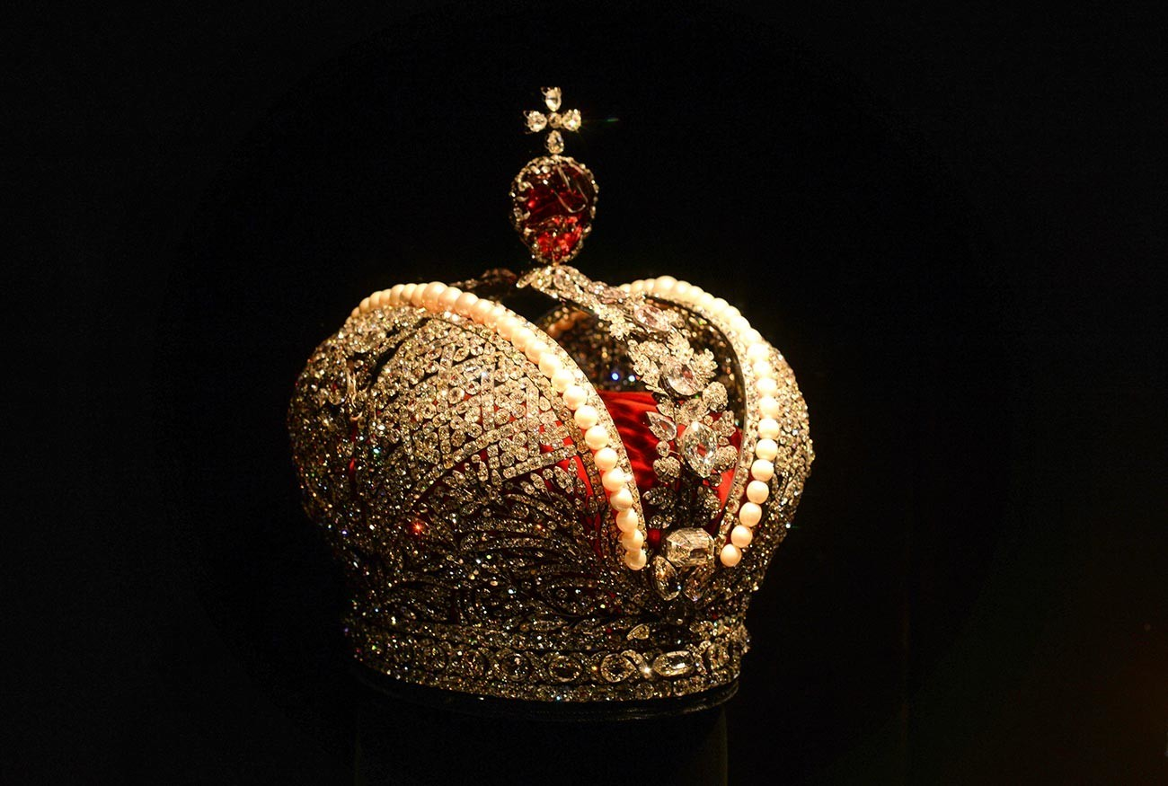 Mahkota Besar Kekaisaran di Almazny Fond.