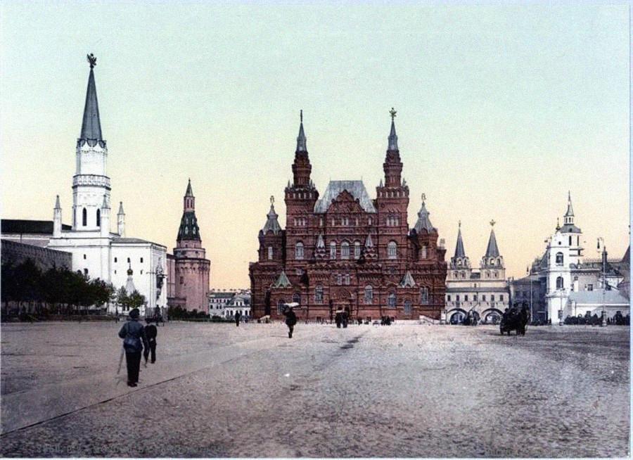 Plaza Roja, a comienzos de la década de 1900.