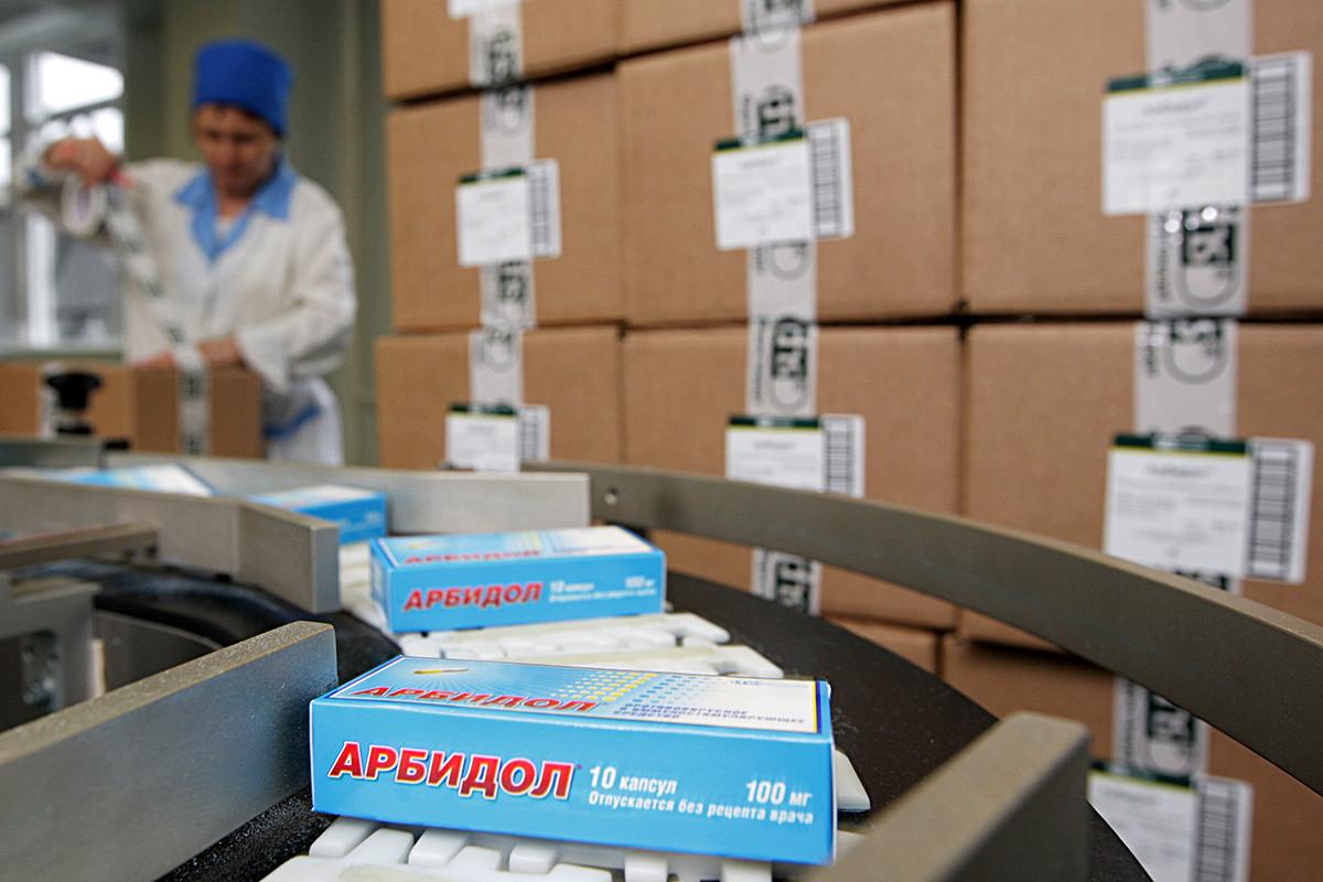 Confezioni di medicinali dell'azienda