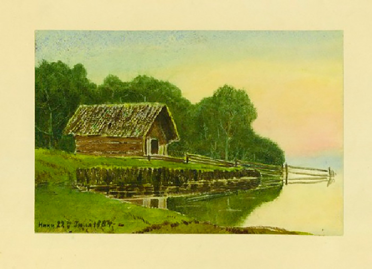 ニコライ2世が描いた絵