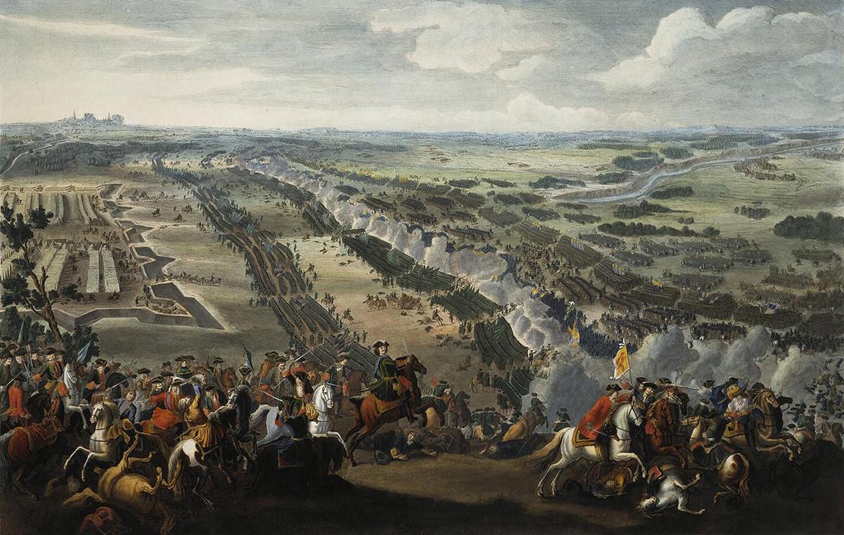 Bataille de Poltava par Pierre-Denis Martin