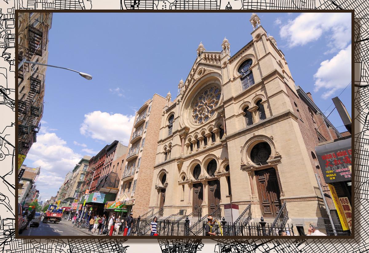 Синагога на Элдридж-стрит - первая синагога, возведенная в Америке выходцами из Восточной Европы