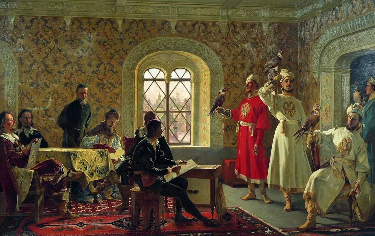 Картина на любимите соколи на император Алексей Михайлович