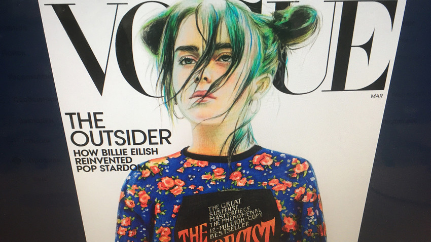 Photo of the American Vogue cover.
