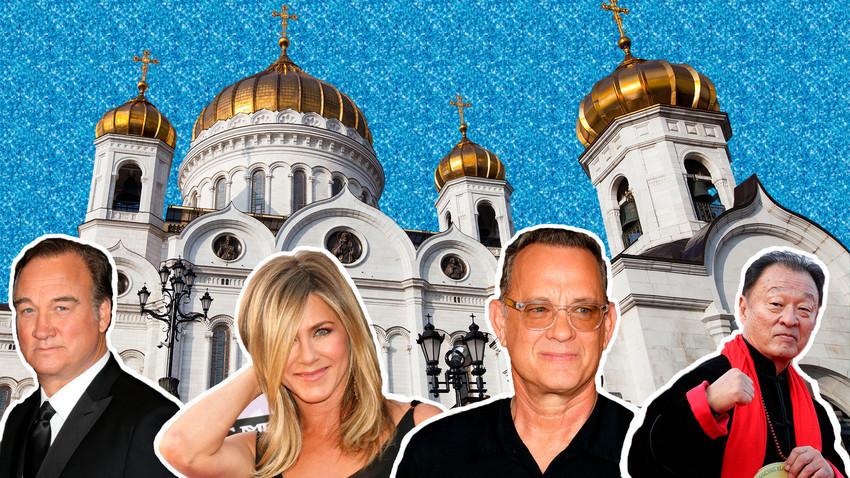 Храмот на Христос Спасителот. Москва. Џејмс Белуши, Џенифер Анистон, Том Хенкс, Кери Хиројуки Тагава