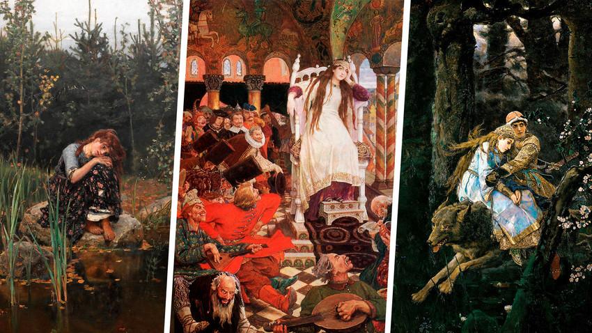 Aljonuška, Ivan Carevič na sivem volku, Kraljična, ki se ni nikoli nasmehnila (Vasnecov)