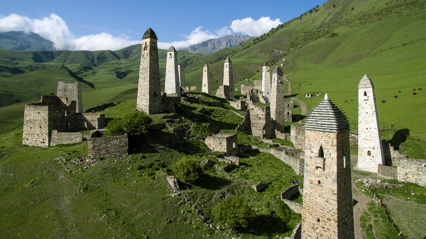 Erzi, un complejo de torres medievales en Ingusetia