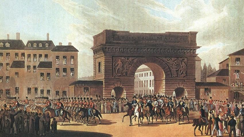 Руска војска улази у Париз 1814. (непознати уметник)