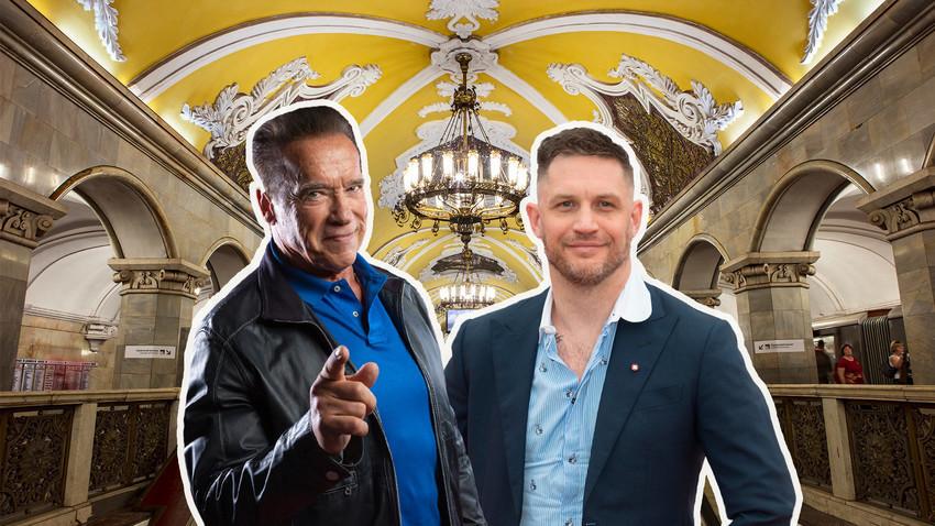 Estación Komsomólskaya y ascensores, Arnold Schwarzenegger, Tom Hardy