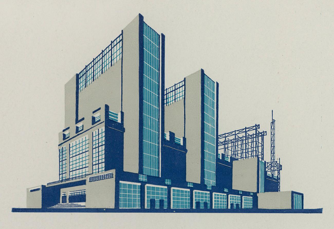 ヤコブ・チェルニホーフ、建築の幻想、1933年