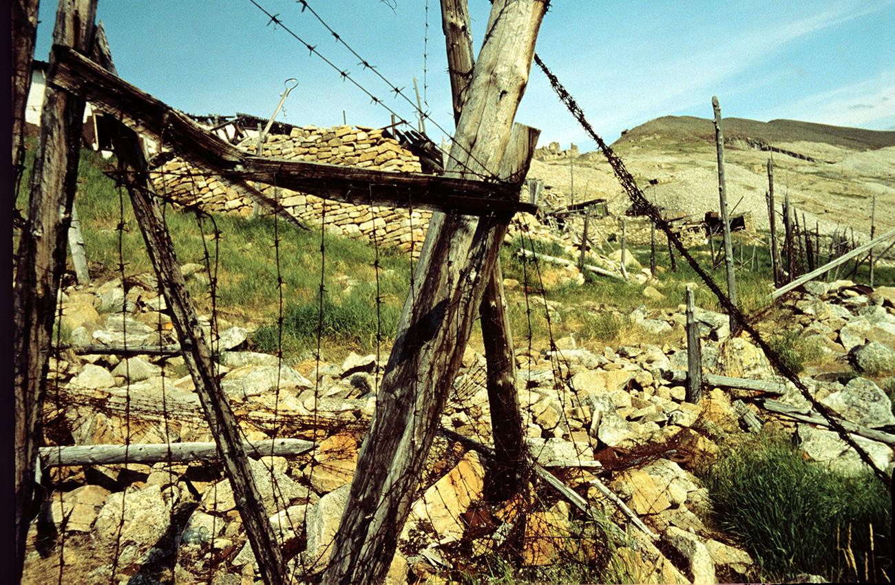 """Campamento de Butugichag (que se traduce del idioma evenki como """"valle de la muerte) en Kolimá, 1997"""