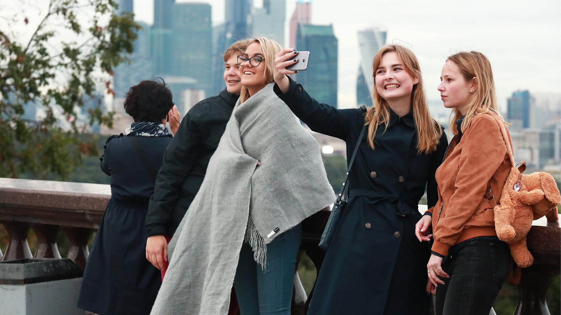 Un selfie sur le Mont des Moineaux