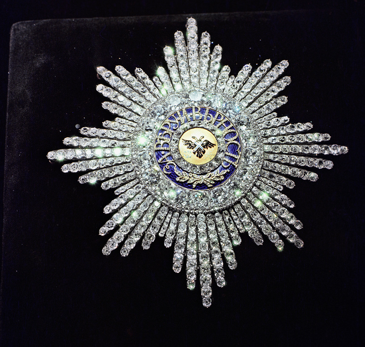 The Star of the Order of St. Andrew. 8х8 cm.