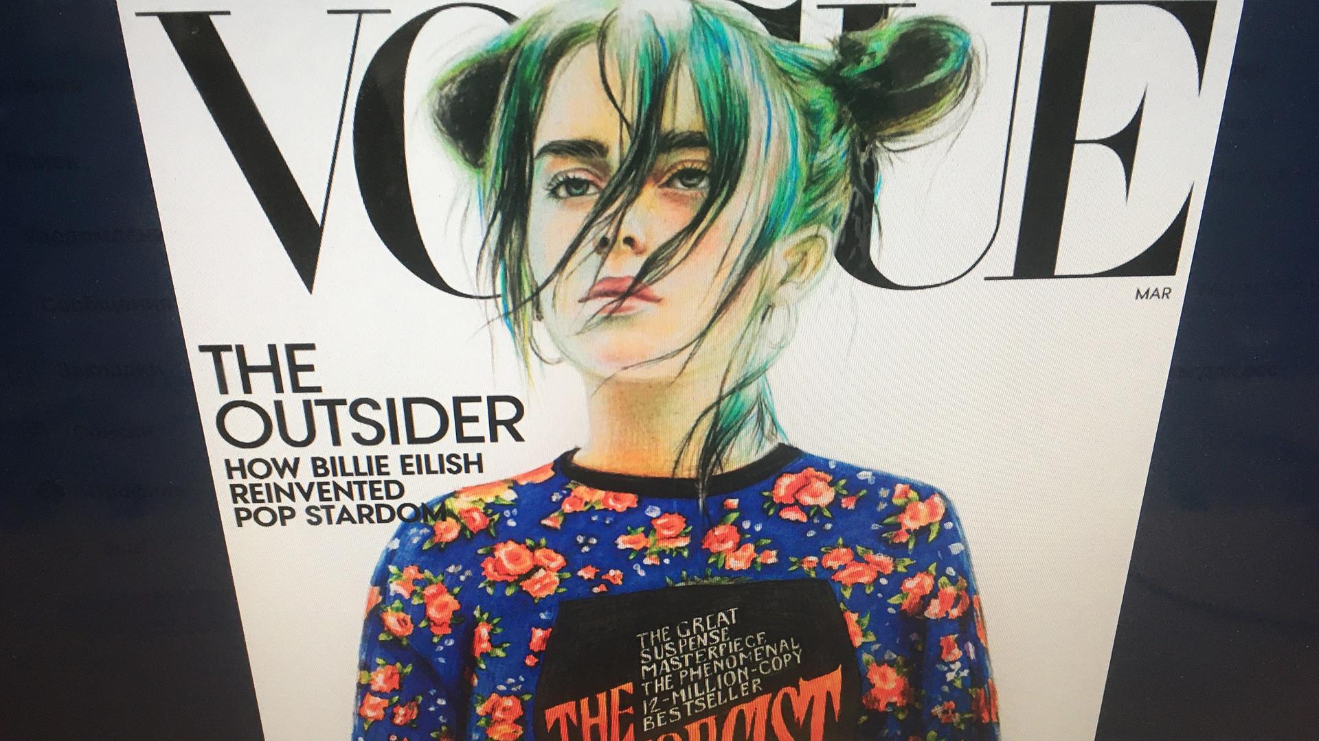 Foto da página da Vogue no Twitter