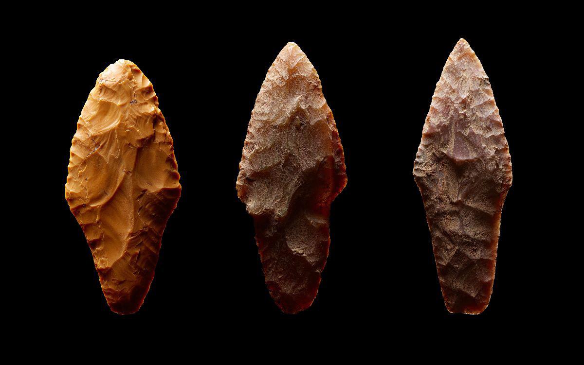 イストラ地区で発見された矢尻(ケイ素から作られていた)