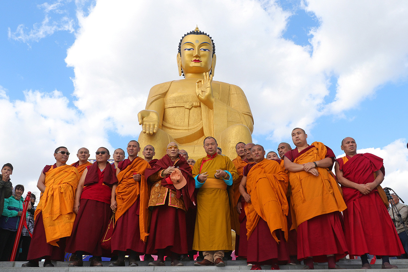 Opening of the largest Buddha statue in Europe in Kalmykia, Russia.