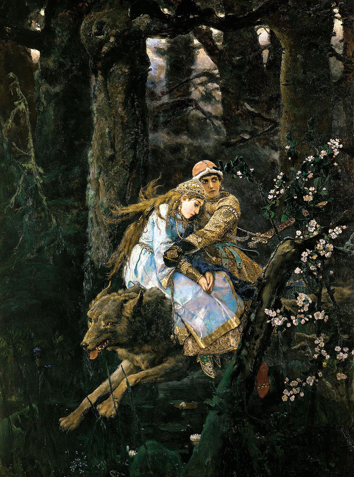 Ivan Carevič na sivem volku