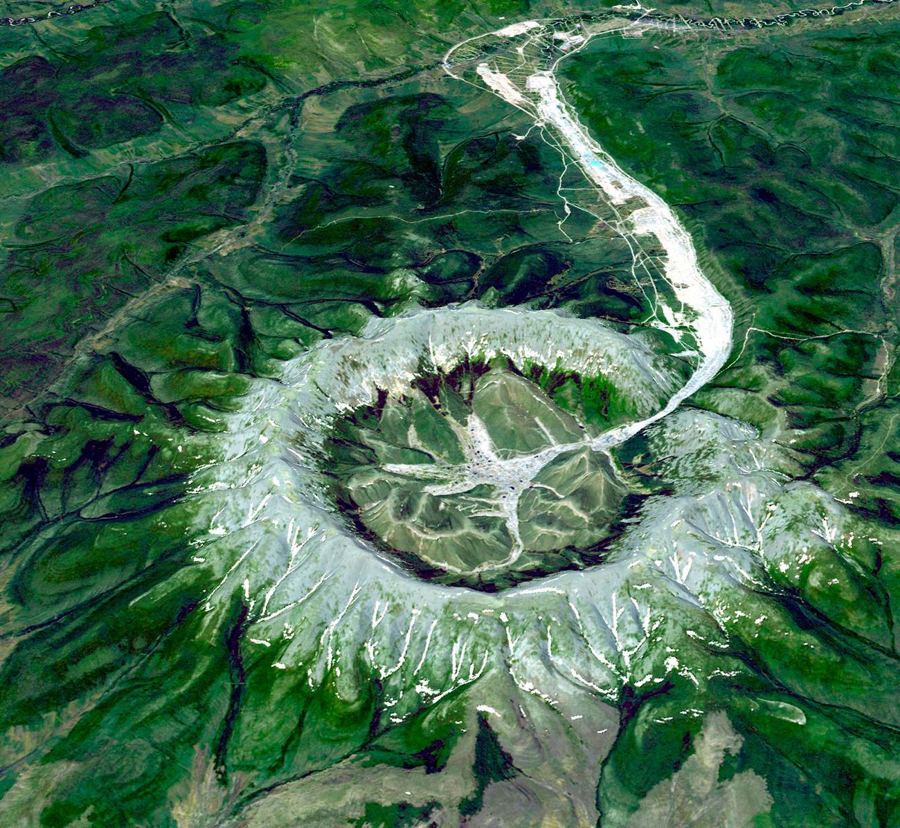ハバロフスク地方のコンジョル山脈
