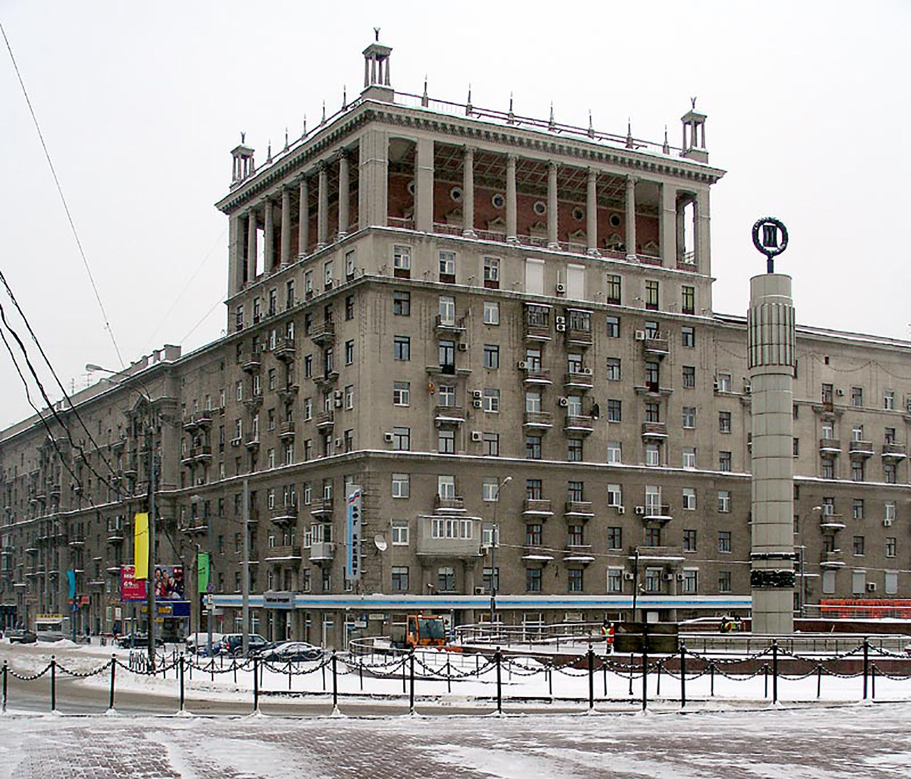 Das Wohnhaus am Kutusow-Prospekt 35 in Moskau wurde von 1938 bis 1941 errichet.