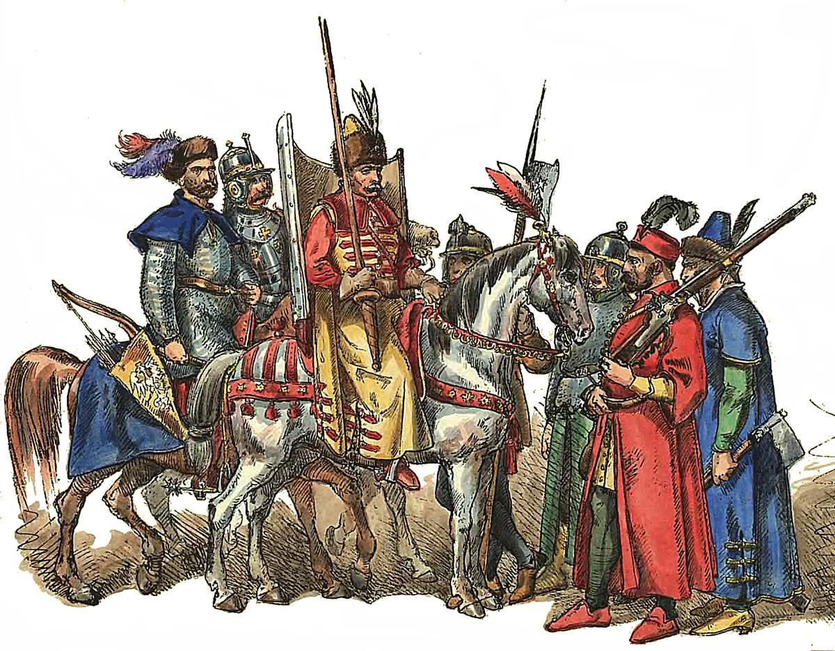Литовски воини от XVI в. от Ян Матейко