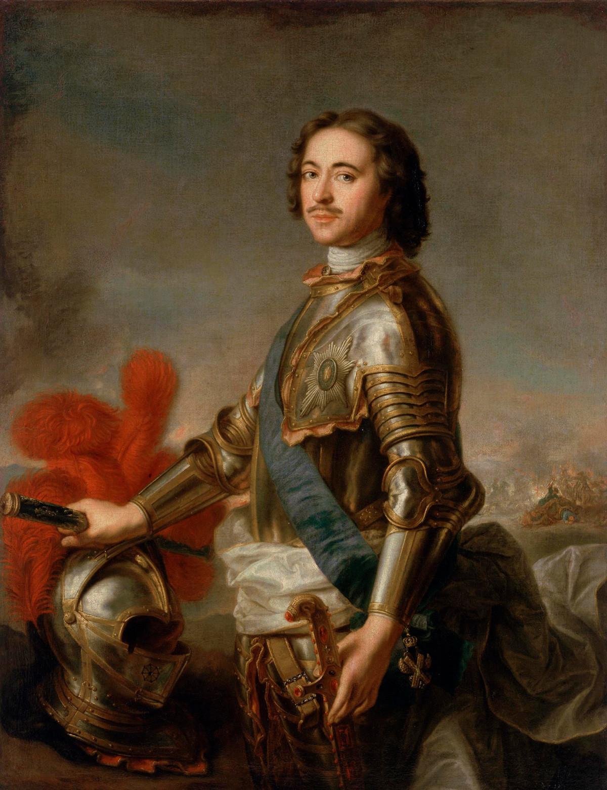 Porträt von Peter I. von Jean-Marc Nattier