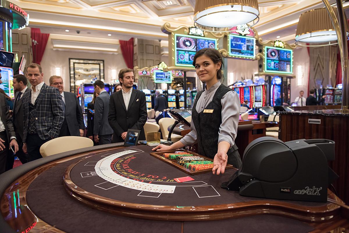 Коцкарска маса во казино, одморалиште Краснаја пољана, Сочи.