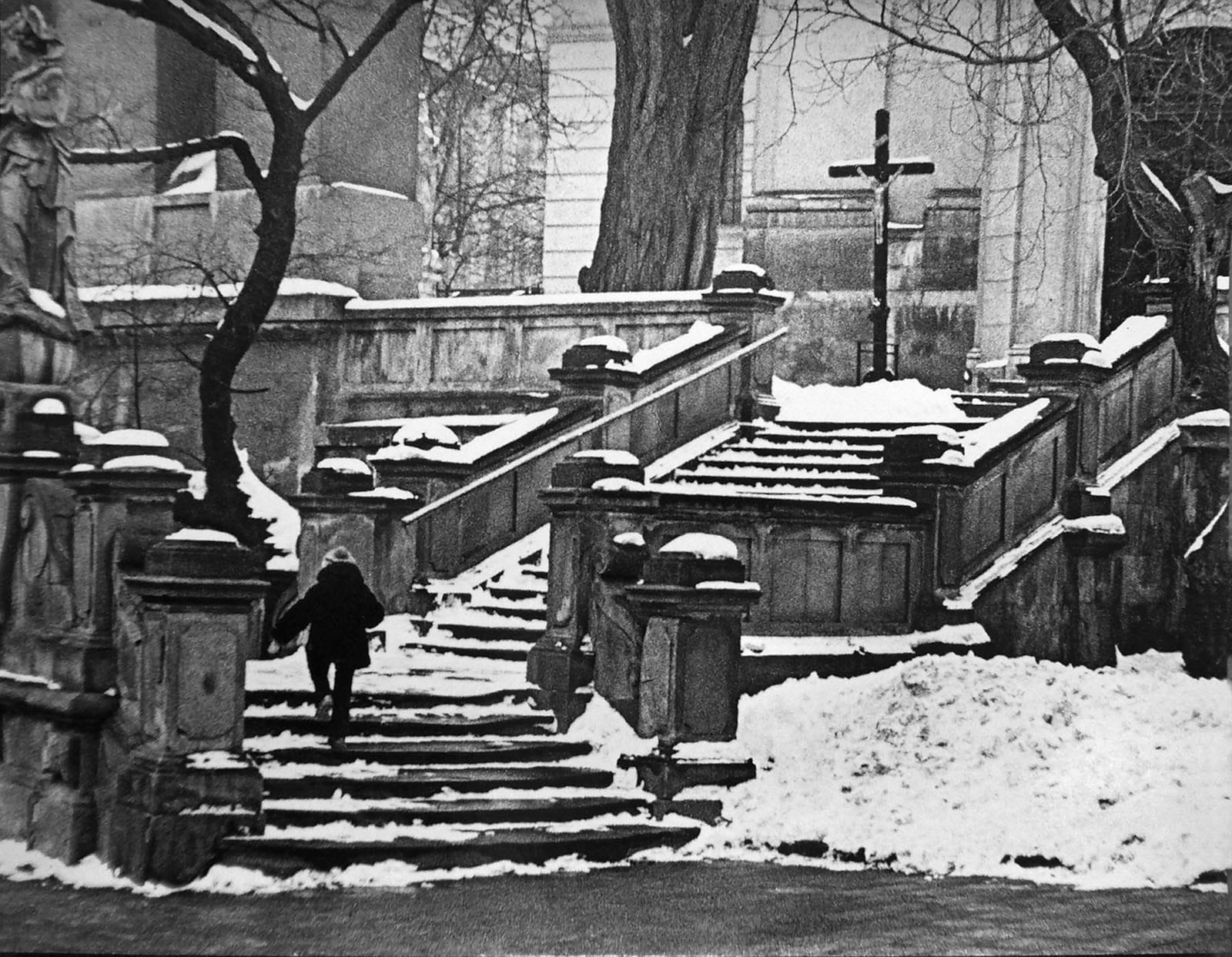 階段を上る (リヴィウ、1979年)
