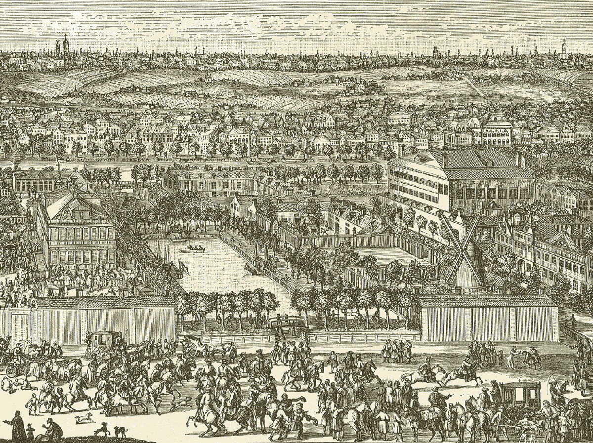 The German Quarter in Moscow in the early 18th century