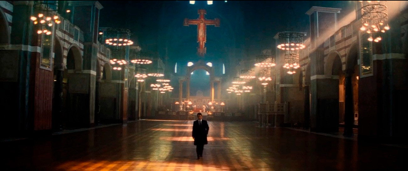 Jack Ryan meets the antagonist, ostensibly, in the Russian Orthodox Cathedral of Christ the Savior in Moscow