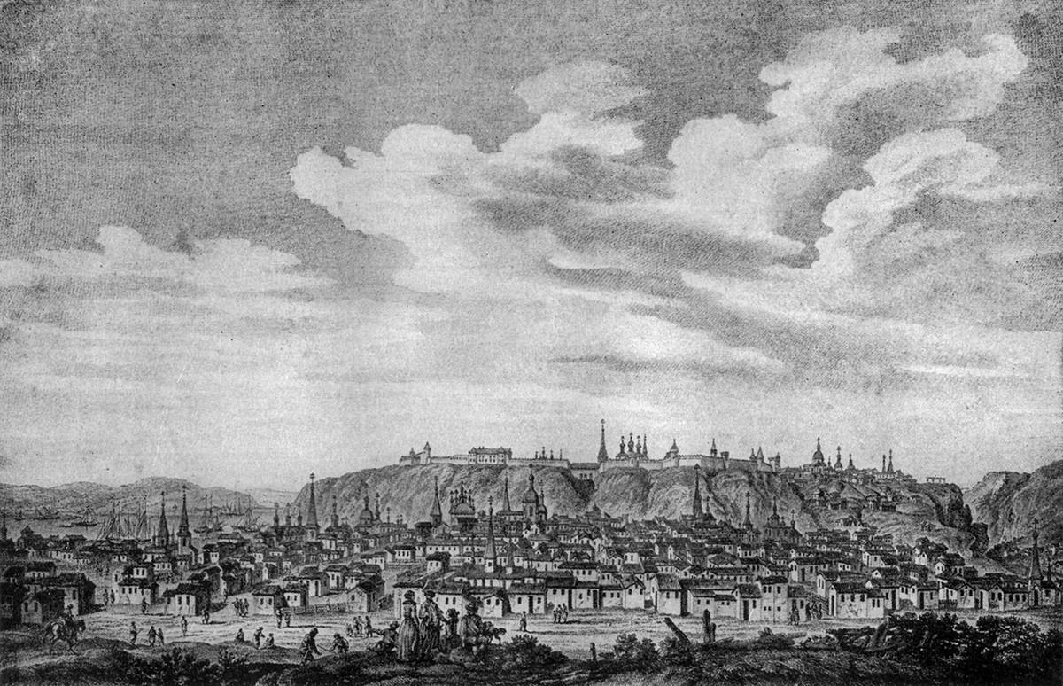 Stadt Tobolsk im frühen 18. Jahrhundert