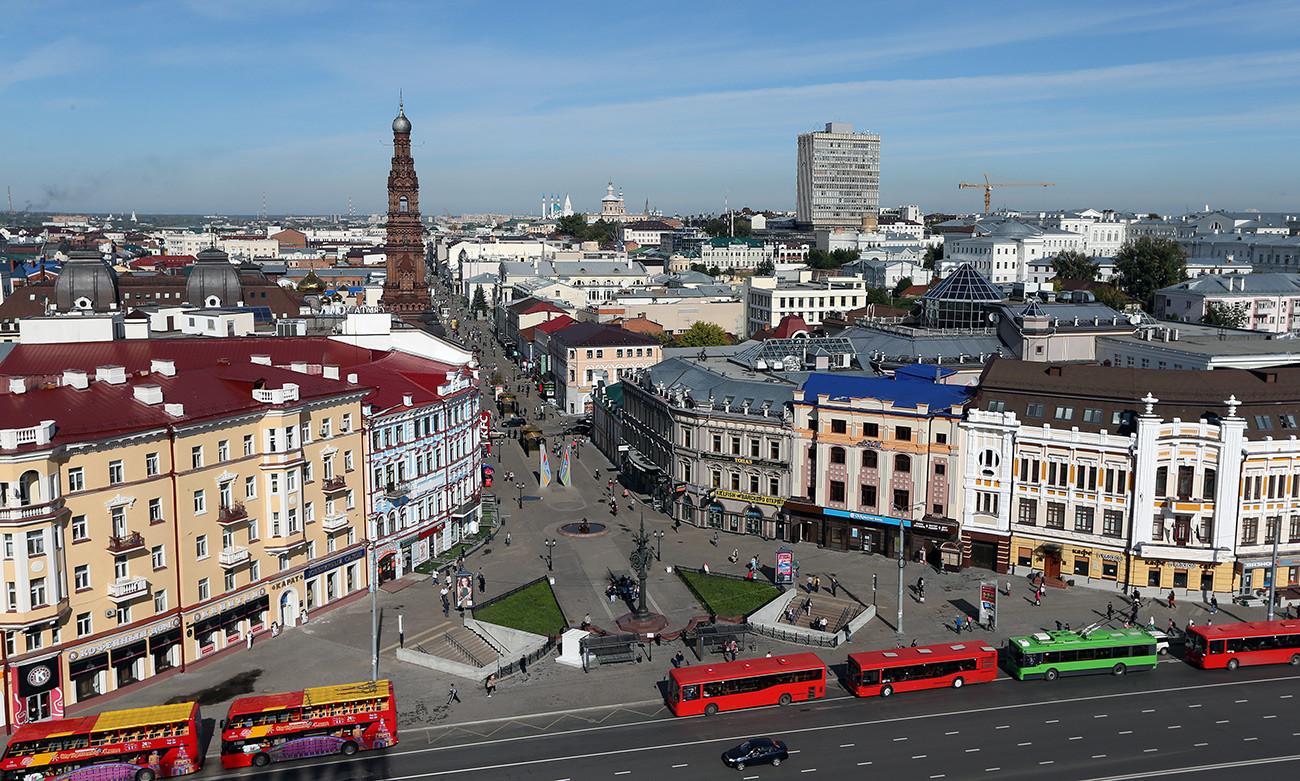 Los residentes de Kazan, Rusia, se sienten más identificados con su ciudad en esta foto auténtica