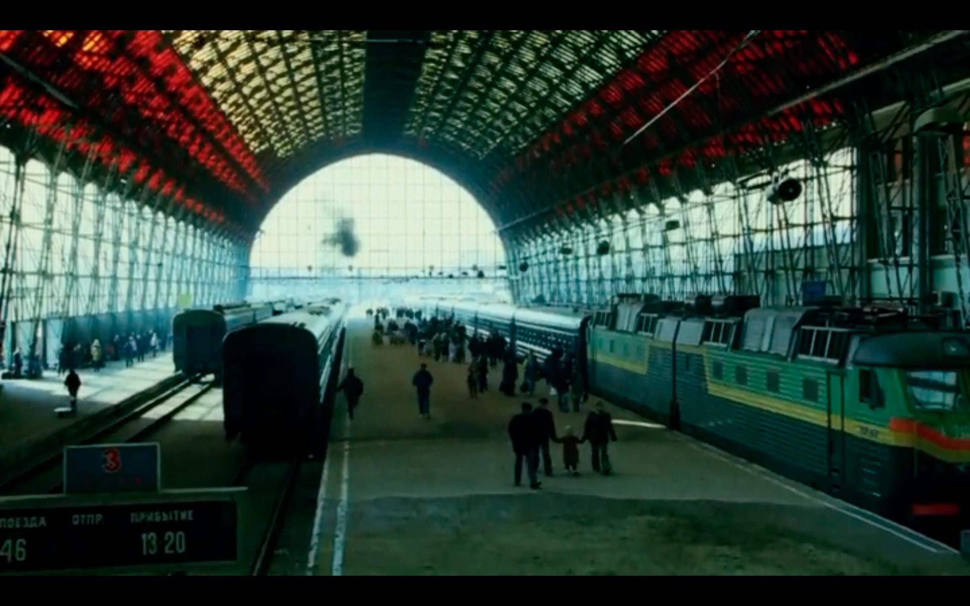 La verdadera estación de tren de Kievski, a donde Bourne llega en algún momento del año 2004