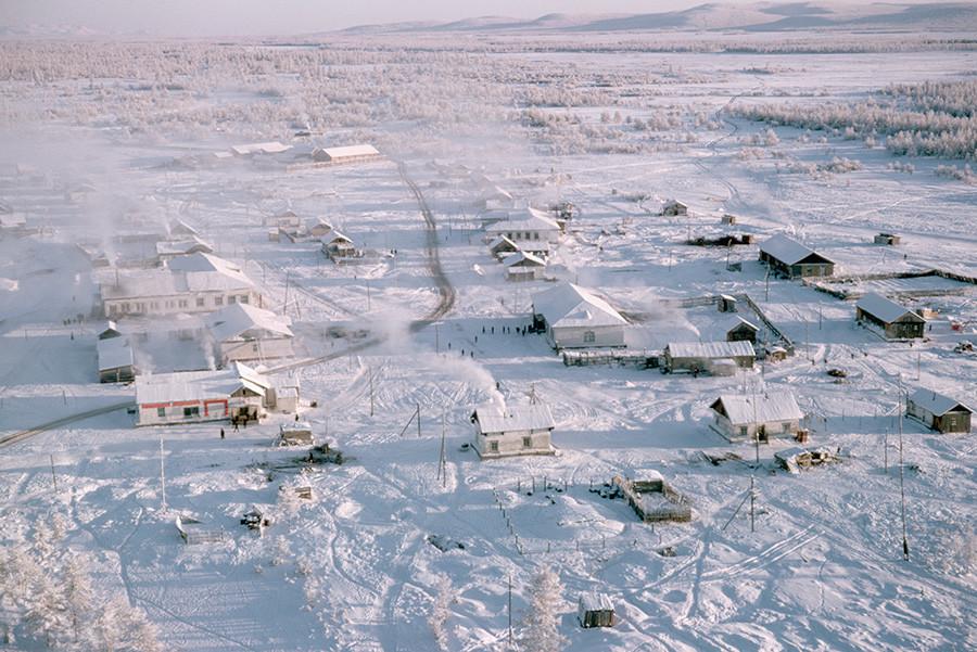 Vista aérea de Oimiakon.