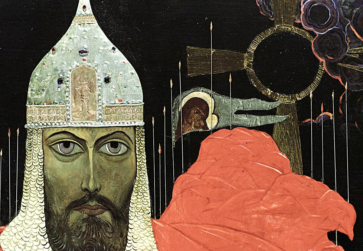 Reproduction de la peinture d'Ilia Glazounov