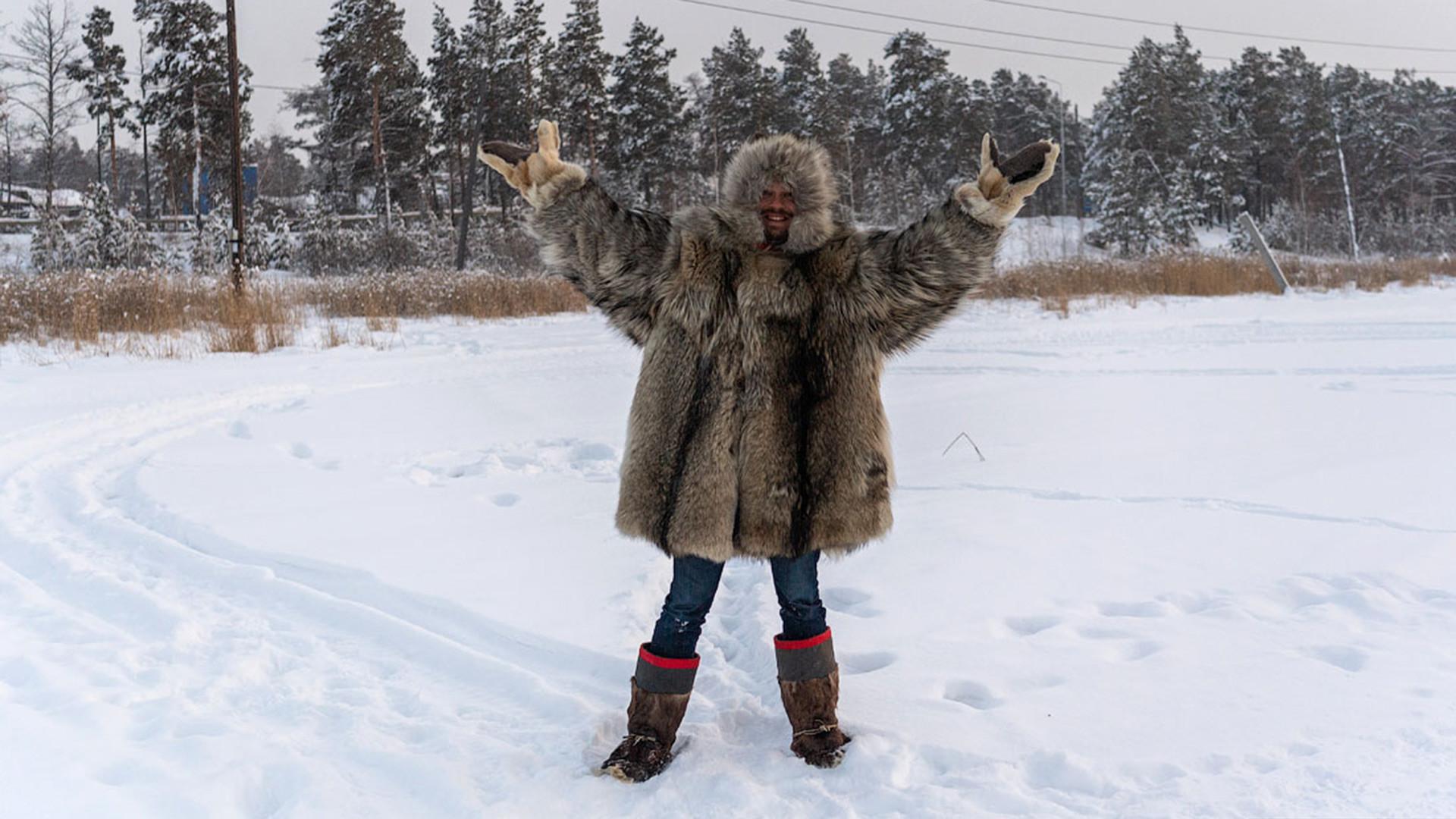 El bloguero ruso Iliá Varlamov, en Yakutia