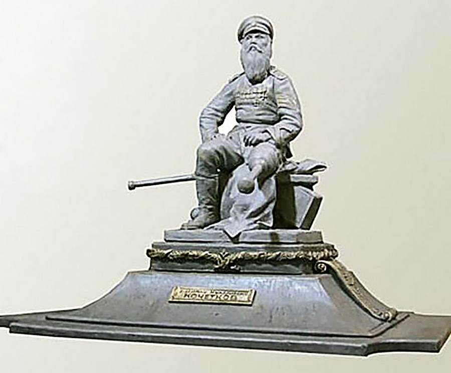 A draft of the monument to Vasiliy Kochetkov
