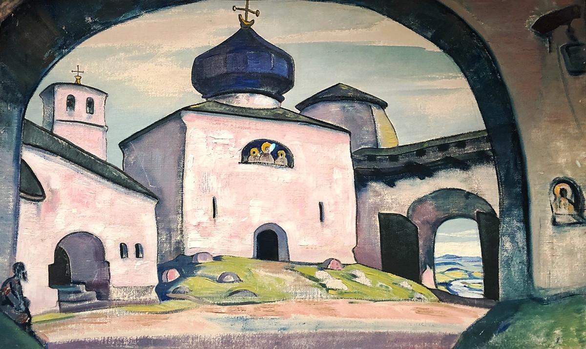 Nicholas Roerich 'Old Pskov'