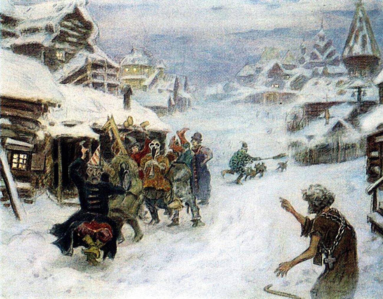 'Skomorokhs' (1904) by Appolinariy Vasnetsov