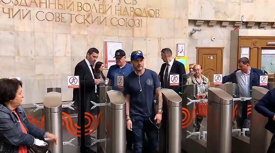 Том Харди в московском метро